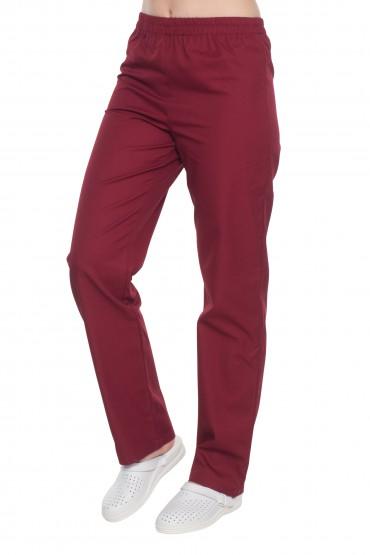 Spodnie zabiegowe-kolor bordo.